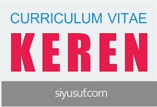 2 Contoh CV Curriculum Vitae Dalam Bahasa Inggris dan